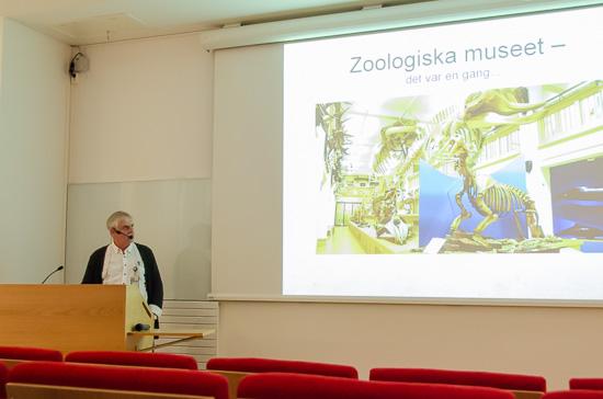 Museichef Lars Lundqvist berättade om zoologiska museets historia.