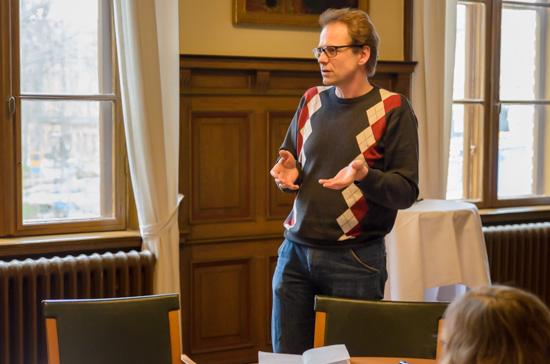 Mats Hansson presenterade resultaten från sin grupp.