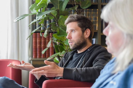 Gruppdiskussion med Tobias Uller.